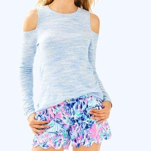 Lilly Pulitzer Lyon Sweater Heathered Blue Size XL